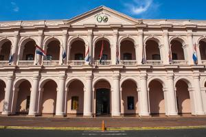 The Pink Cabildo, Museum of the National Congress in Asuncion, Paraguay, South America by Michael Runkel
