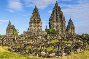 The Prambanan Temple Complex, UNESCO World Heritage Site, Java, Indonesia, Southeast Asia, Asia by Michael Runkel