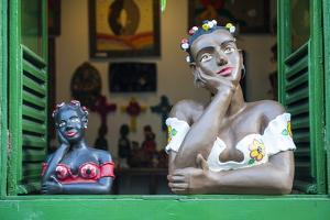 Traditional Puppets in a Window in Sao Joao Del Rei, Minas Gerais, Brazil, South America by Michael Runkel