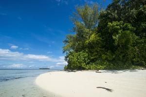 Turquoise water and a white beach on Christmas Island, Buka, Bougainville, Papua New Guinea, Pacifi by Michael Runkel