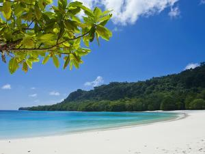 Turquoise Water and White Sand at Champagne Beach, Island of Espiritu Santo, Vanuatu, South Pacific by Michael Runkel
