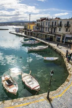 Venetian Harbour, Rethymno, Crete, Greek Islands, Greece, Europe by Michael Runkel