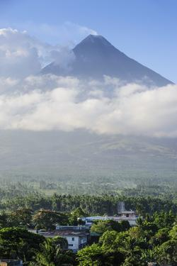 View from the Daraga Church over Volacano Mount Mayon, Legaspi, Southern Luzon, Philippines by Michael Runkel