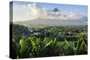 View from the Daraga Church to the Volcano of Mount Mayon, Legaspi, Southern Luzon, Philippines by Michael Runkel