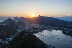 View from the Sugarloaf, Rio De Janeiro, Brazil, South America by Michael Runkel