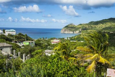 View over Little Bay, Montserrat, British Overseas Territory, West Indies, Caribbean, Central Ameri by Michael Runkel