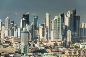 View over Panama City from El Ancon, Panama, Central America by Michael Runkel