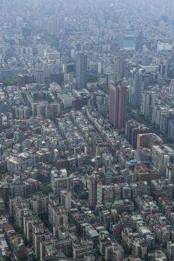 View over Taipeh from the 101 Tower, Taipeh, Taiwan, Asia by Michael Runkel