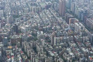 View over Taipei from the 101 Tower, Taipei, Taiwan, Asia by Michael Runkel