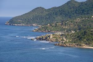 View over the beautiful coastline of Labadie, Cap Haitien, Haiti, Caribbean, Central America by Michael Runkel