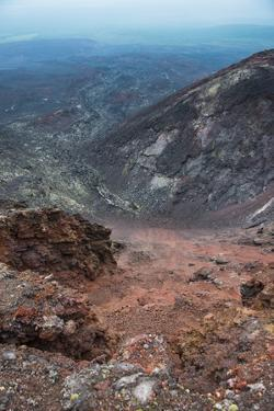 View over the Lava Sand Field of the Tolbachik Volcano, Kamchatka, Russia, Eurasia by Michael Runkel