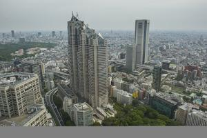 View over Tokyo from the town hall, Shinjuku, Tokyo, Japan, Asia by Michael Runkel
