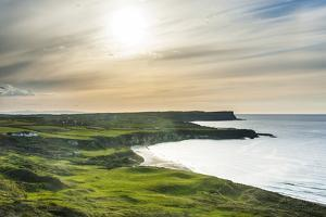 View over Whitepark Bay (White Park Bay), County Antrim, Ulster, Northern Ireland, United Kingdom by Michael Runkel