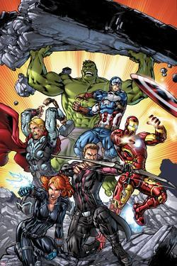 Avengers: Operation Hydra No. 1 Cover, Featuring: Black Widow, Hawkeye, Iron Man, Captain America by Michael Ryan