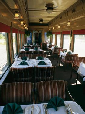 A Dining Car Aboard the Royal Hudson Steam Train by Michael S. Lewis