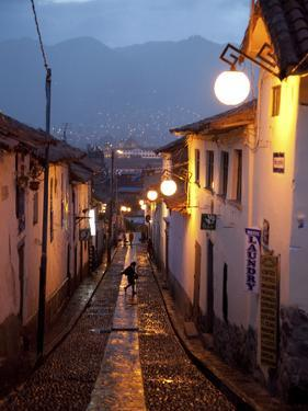 A Street in the San Blas Neighborhood in Cuzco by Michael S. Lewis