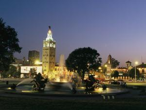 The Plaza in Kansas City at Night by Michael S. Lewis