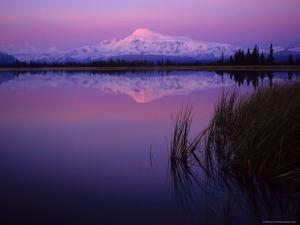 Mt. Sanford Reflected in Kettle Lake Wrangell, Alaska by Michael S. Quinton