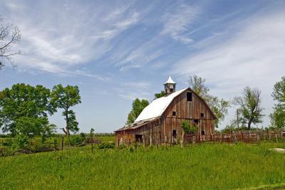 Old Red Barn, Kansas, USA
