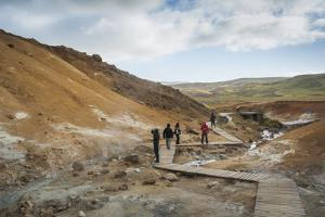 Seltun, Krysuvik Geothermal Area, Reykjanes Peninsula, Iceland, Polar Regions by Michael