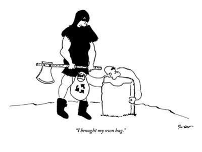 """""""I brought my own bag."""" - New Yorker Cartoon"""