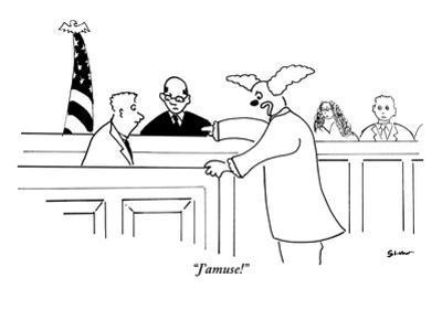 """J'amuse!"" - New Yorker Cartoon"