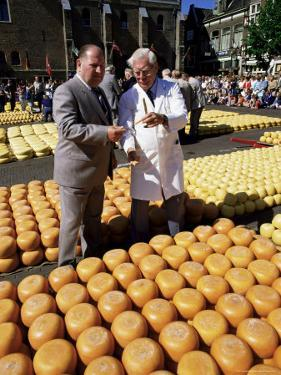 A Bargain is Struck, Friday Cheese Auction, Alkmaar, Holland by Michael Short