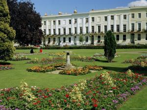 Imperial Gardens and Regency Terrace, Cheltenham, Gloucestershire, England, UK, Europe by Michael Short
