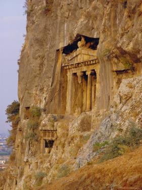 Lycian Rock Tombs (Circa 400 BC), Near Fethiye, Turkey, Eurasia by Michael Short