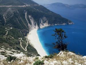 Myrtos Bay and Beach, Kefalonia, Ionian Islands, Greek Islands, Greece by Michael Short