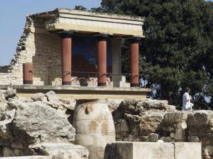 Reconstructed Palace of King Minos, Knossos, Crete, Greece by Michael Short