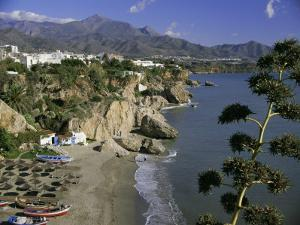 Salon Beach from Balcon De Europe, Nerja, Andalucia (Andalusia), Spain, Europe by Michael Short