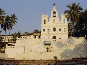 The Church of Our Lady of the Immaculate Conception, and Large Bell, Panjim, Goa, India by Michael Short