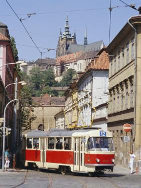 Tram in the Lesser Quarter, Prague, Czech Republic, Europe by Michael Short