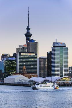 Skyline of Auckland, North Island, New Zealand, Pacific by Michael
