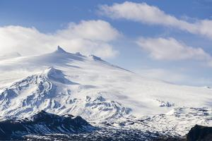 Snaefellsjokull, Snaefellsnes Peninsula, Iceland, Polar Regions by Michael