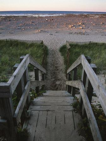 Beach at Old Mission Lighthouse, Michigan, USA