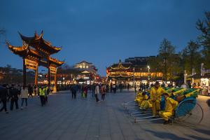 Confucian Temple, Pedestrian Street, Nanjing, Jiangsu province, China, Asia by Michael Snell