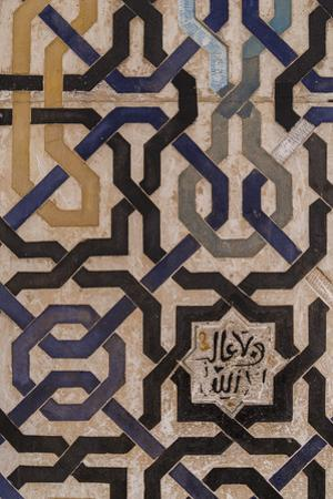 Detail, Alhambra, Granada, Province of Granada, Andalusia, Spain by Michael Snell
