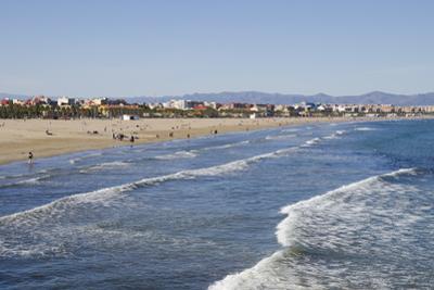 Malvarrosa Beach, Valencia, Spain, Europe by Michael Snell