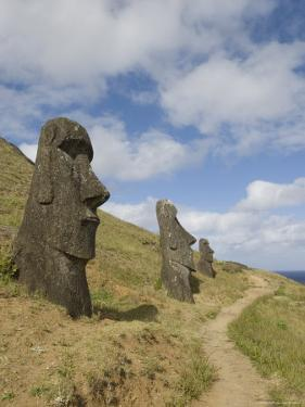 Moai Quarry, Rano Raraku Volcano, Unesco World Heritage Site, Easter Island (Rapa Nui), Chile by Michael Snell
