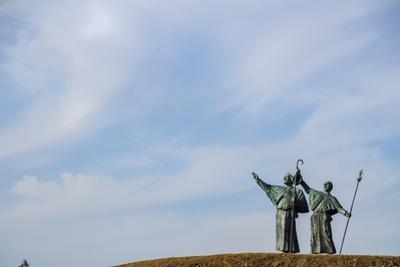 Monte do Gozo (Mount Joy), Santiago de Compostela, A Coruna, Galicia, Spain, Europe by Michael Snell