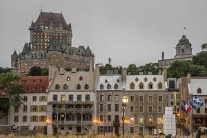 Quebec City with Chateau Frontenac on Skyline, Province of Quebec, Canada, North America by Michael Snell