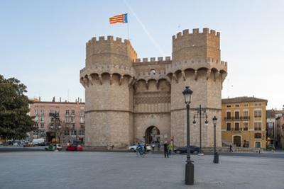 Serranos Gate, Valencia, Spain, Europe by Michael Snell