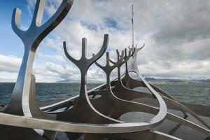 Solfar (Sun Voyager) Sculpture by Jon Gunnar Arnason in Reykjavik, Iceland, Polar Regions by Michael Snell