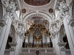 St. Stephan's Cathedral, Passau, Bavaria, Germany, Europe by Michael Snell