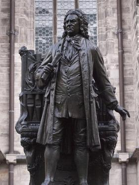 Statue of Bach, Leipzig, Saxony, Germany, Europe by Michael Snell