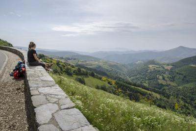 The French Way of the Way of St. James, O Cebreiro, Lugo, Galicia, Spain, Europe by Michael Snell