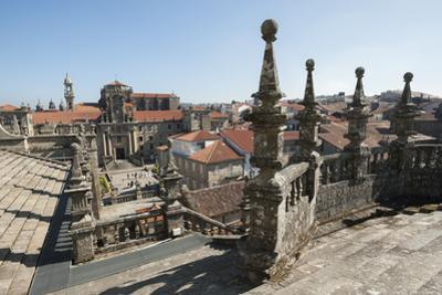 View from the roof of the Cathedral of Santiago de Compostela, UNESCO World Heritage Site, Santiago by Michael Snell