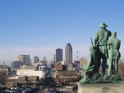 View of Downtown from State Capitol, Des Moines, Iowa, USA by Michael Snell